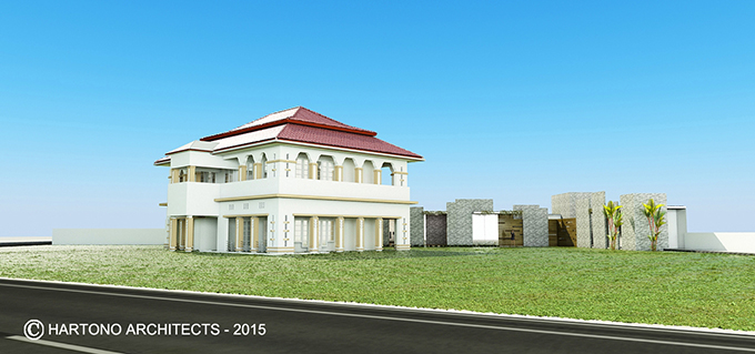 Weep and wonder Illustration 4 Residence of Bank Indonesia in Medan: The new extension was designed as a modest backdrop that celebrates the design of the original residence. Unexecuted design. Unrealised design.